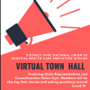 Virtual Town Hall Tuesday April 14, 2020 - 6pm to 7pm