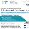 Fully-Funded Enrollment - Direct Support Professional Job Training Pre-Apprenticeship Program