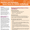 Nutrition and Hydration: Quick Facts for COVID-19 Patients Recovering at Home